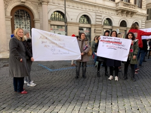 Bo Guerreschi - Presidente bon't worry - Rome Rises - Anniversario della Women's March 2019 .